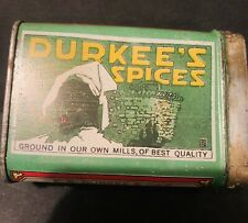 Vintage Spice Tin Durkee Lithograph