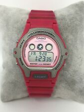 Pink Casio Alarm Chronograph Sports Watch LW-202H 3226 New Battery Runs Great
