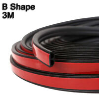 3M BShape Moulding Trim Strip Car Door Edge Scratch Protector Guard Rubber Black