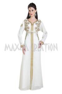 HAND EMBROIDERED DUBAI KAFTAN WEDDING HENNA NIKKAH GOWN KURDISH DRESS MAXI 6677