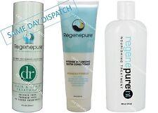 Regenepure Dr + NT + volumzing Acondicionador-pérdida de cabello Recrecimiento DHT Shampoo Kit