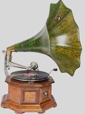 Machine Vintage Green Horn Hmv 90's Gramaphone Old Music Box Phonograph HB 09