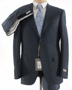 Canali NWT Suit Size 40R Greenish Blue With Red & Blue Plaid Wool $1,995