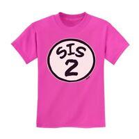 Sis 2 Kids T-Shirt Brother Seuss Sister Siblings Thing Dr 1 2 3 Tee