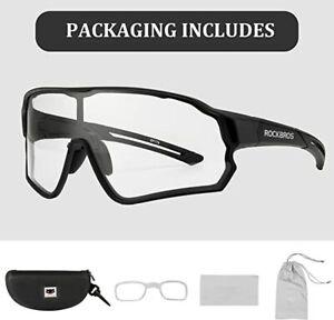 ROCKBROS Bike Photochromic Sunglasses for Men Women UV400 Spotrs Cycling Eyewear