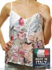 Spaghetti Strap Sleeve Unbranded Machine Washable Floral Tops & Blouses for Women