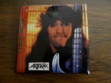 Vintage 80's Anthrax Pinback Button Frank Bello Metal Rock Band Music