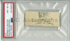 General George Patton - WWII General - PSA/DNA Slabbed Autograph Graded NM-MT 8