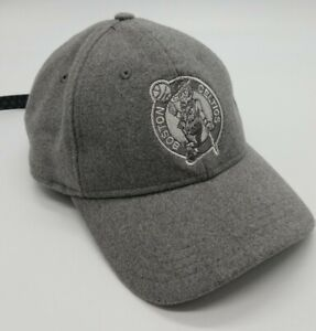 Boston Celtics New Era Black Label Cashmere 9Twenty Adjustable Hat Gray NWOT