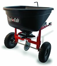 Tow-Behind Fertilizer Spreader 110-Pound Polyethylene Hopper Lawn Cultivaton NEW