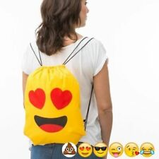 9c8d59632f Zaino a Sacca con Corde Emoticon modello Casuale Faccine Assortite Zainetto  Bag