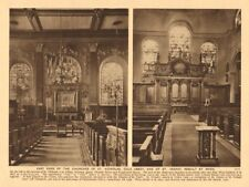 Churches of St Nicholas Cole Abbey & St. Vedast Foster Lane 1926 old print