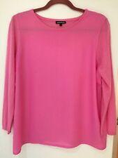 Warehouse Pink Crepe Blend Jumper, Size L