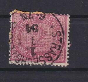 DR 37 b  2 Mark gestempelt 1884 geprüft Jäschke-Lantelme (kt325)