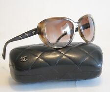 Chanel Sunglasses  Faux Tortoise Swarovski Crystals 5151  56mm