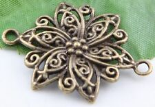 Free Ship 24Pcs Bronze Plated Flowers Connectors Findings 40x28mm