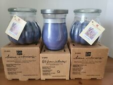 """3 Home Interior Scented Candles """"Lavender"""" New in Box 15.5 oz each"""