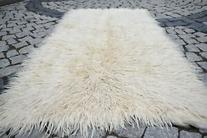 Turkish Tulu Rug 31'' x 66'' Anatolian Organic Wool Tulu Rug NO DYE TERRIFIC RUG