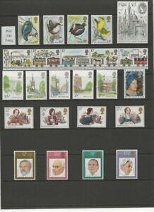GB QEII 1980 9 Complete Sets MUH