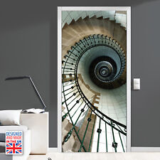 Spiral Stairs - DIY Interior Home Decor - Door Mural - Designed and Made in UK