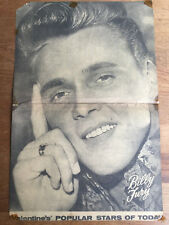 Authentic BILLY FURY 1963 Hand-Written Autograph