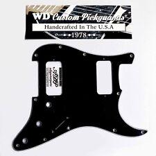 Pickguard Stratocaster HH TV Jones Univ.Mount 3ply 11H  Strat Black WD STBA-203