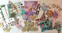 Craft clearout mix, card toppers / paper die cuts, bundle joblot vintage summer