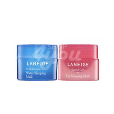 Laneige Good Night Sleeping Care Set Sample Lip Mask + Water Sleeping Mask