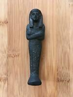 Vintage Egyptian 1970's Sarcophagus Black Soapstone Collectable Figurine $24.99