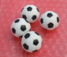 "4PCS black&white 28mm SOCCER TABLE FOOSBALL footBALL babyfoot ball texture 1.1"""