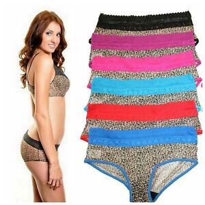 2 PACK or 3 PACK Women's Lace Cheetah Animal Print Bikini Underwear PANTIES ONLY