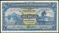 TRINIDAD AND TOBAGO ONE (1) DOLLAR July 1, 1949 PICK # 5e Nice AU