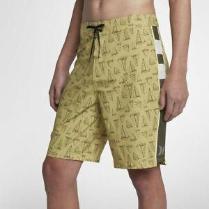 "Hurley Phantom JJF Maritime Men's Board Shorts 20"" 890787 724 Buff Gold W32 M"