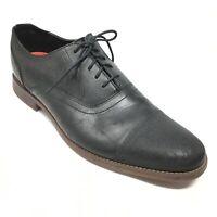 Men's Rocpkort Style Purpose Oxfords Shoes Size 13 M Black Leather Cap Toe K2