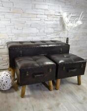 Flurbank Sitzbank Sitztruhe 3er Set gepolstert Vintage NEU LV2080