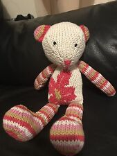 Beautiful Hand Knitted Flower Teddy