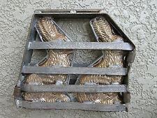 """COLLECTIBLE ANTIQUE IRON DOUBLE 8"""" RABBIT HINGED CANDY MOLD"""