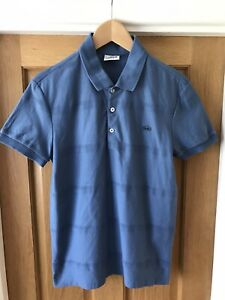 Genuine LACOSTE New Polo Shirt Navy Size 2 Slim Fit Limited Edition Blue Croc