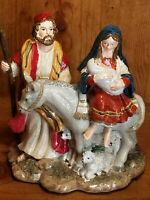 Fitz & Floyd Christmas Holiday The Journey O Holy Night Music Box Figurine~Read