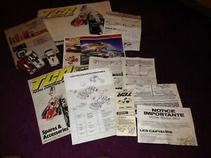 3 vintage TCR racing cars and some TCR instructions. (untested)