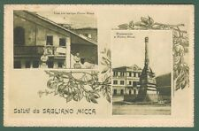 Piemonte. SAGLIANO MICCA, Novara. Saluti da. Cartolina viaggiata nel 1930