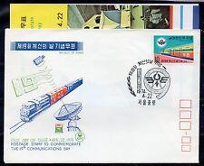 1974 KOREA 1 VALORE SU FDC 22/4 C/4142