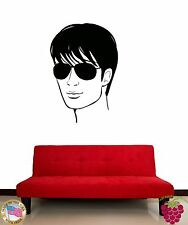 Wall Stickers Vinyl Decal Barber Hair Man Glasses z1052
