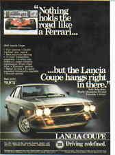 1981 Lancia Coupe *Original Vintage Ad* Ferrari