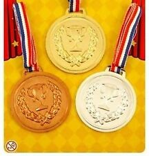 Gold Silver Bronze Winner Plastic Medals Prize School Sports Day Award Olympic