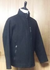 Nice Tumi Tech Black Wool Coat With Hood, Men's Large