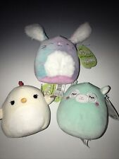 """2021 Squishmallow 5"""" Easter  3-piece set w/tags Charity Miley Ryder"""