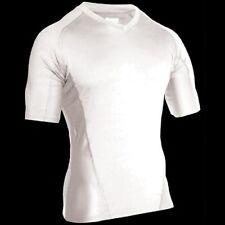 Blanc Blackhawk Col V Manches Courtes Chemise, thermostatique, Génie, coupe large