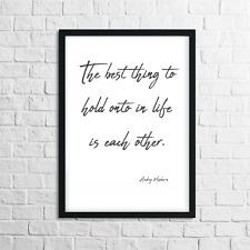 Audrey Hepburn Quotes, Motivational / Inspirational Quotes Print, Wall Art, QP4