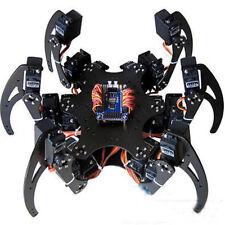 1 Set Black Six Legs Alloy 3dof Hexapod Spider Robot Frame Kit DIY for Arduino